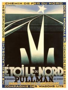 """Adolphe Jean-Marie Mouron """"Cassandre"""" - Cartel L`Etoile du Nord (1927)"""