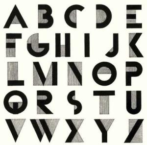"Adolphe Jean-Marie Mouron ""Cassandre"" - Tipografía Bifur (1929)"