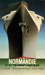"""Adolphe Jean-Marie Mouron """"Cassandre"""" -Cartel Normandie (1935)"""