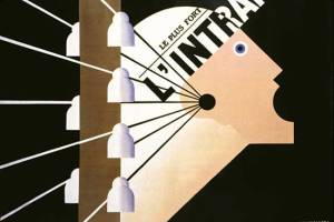 Adplphe Jean-Marie Mouron - Cartel para el periodico L´Intransigeant (1924)