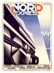 "Adolphe Jean-Marie Mouron ""Cassandre"" - Cartel para el Nord Express (1930)"