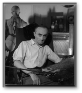 "Adolphe Jean-Marie Mouron ""Cassandre"" - Retrato en su estudio"