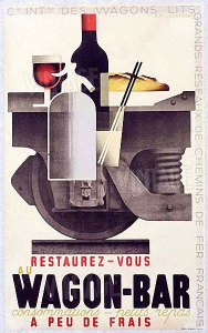 "Adolphe Jean-Marie Mouron ""Cassandre"" - Cartel vagón restaurante (1932)"