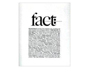 "Herbert Lubalin - Portada de la revista ""Fact"""