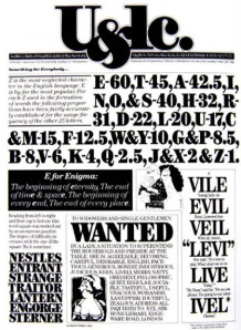 "Herbert Lubalin - Portada del periodico ""Upper and lower case"""