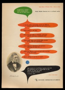 Herbert Bayer - Cartel de la serie Grandes Ideas del Hombre Occidental. Campaña publicitaria de la CCA