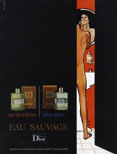 René Gruau - Anuncio para Eau Sauvage (Christian Dior, 1975)