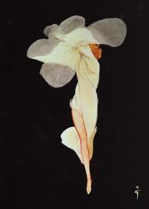 René Gruau - Ilustración para Christian Dior