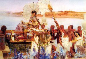 Sir Lawrence Alma-Tadema - El hallazgo de Moisés (1904)