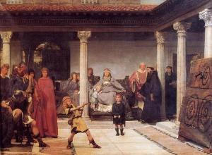 Lawrence Alma- Tadema - La educación de los hijos de Clodoveo (1861)
