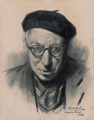 Rafael de Penagos Autorretrato 1952