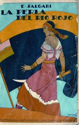 Rafael de penagos Portada de la perla del rio rojo para la editorial saturnino calleja 1919