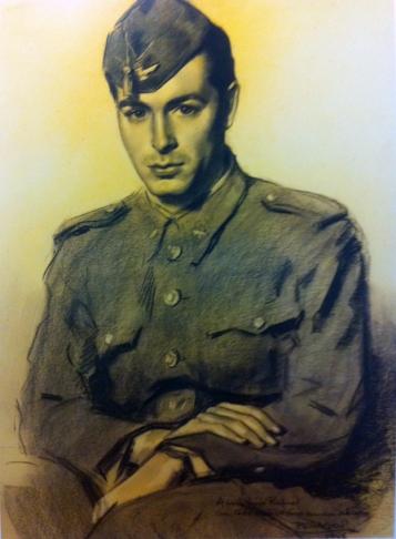 Rafael de Penagos Retrato de su hijo Rafael Carboncillo 1946