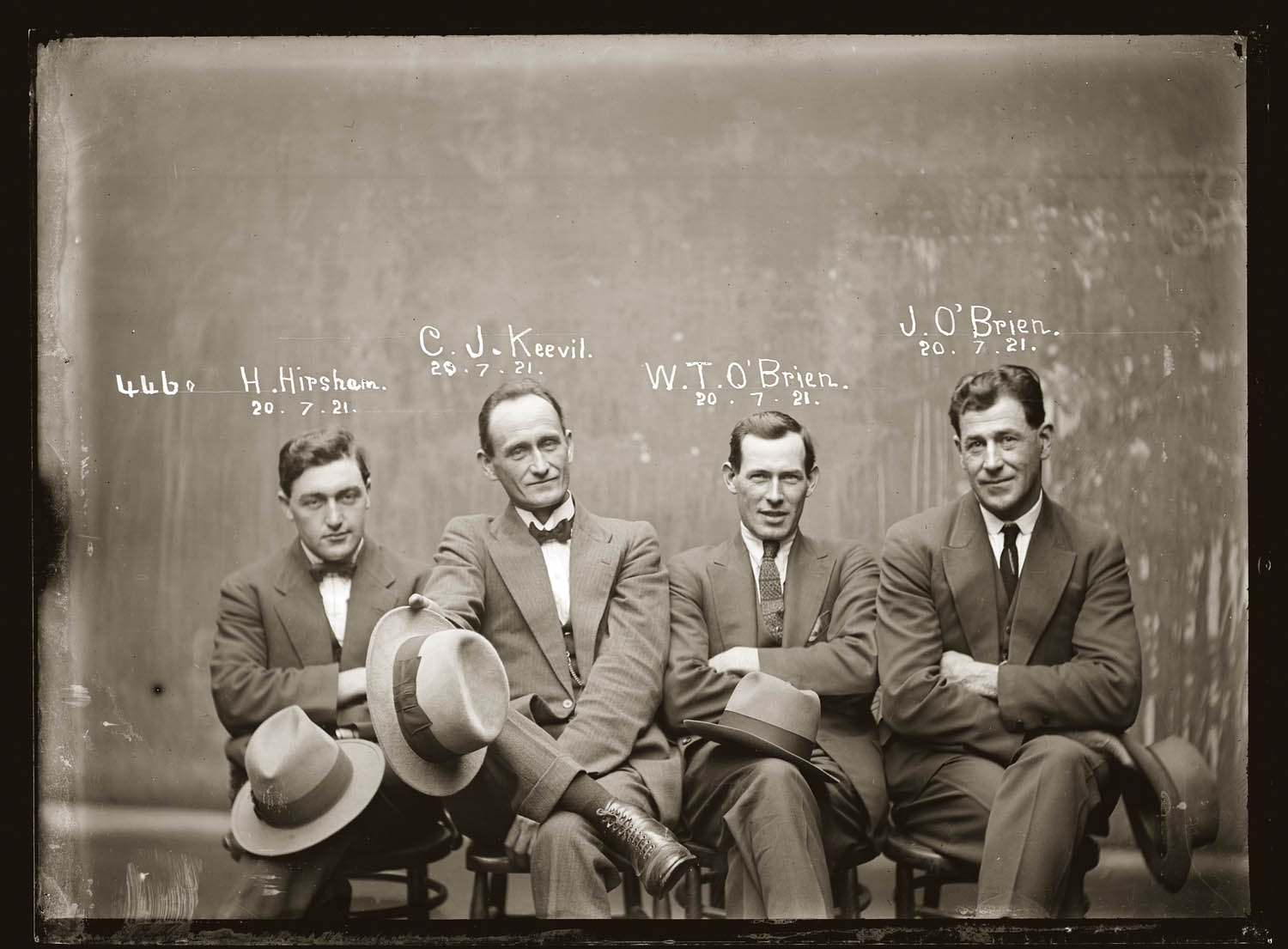 Hampton Hirscham, Cornelius J. Keevil, William T. O´Brien, James O´Brien 20 de Julio 1921