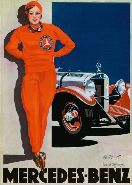 Años 20. Chica de rojo Mercedes