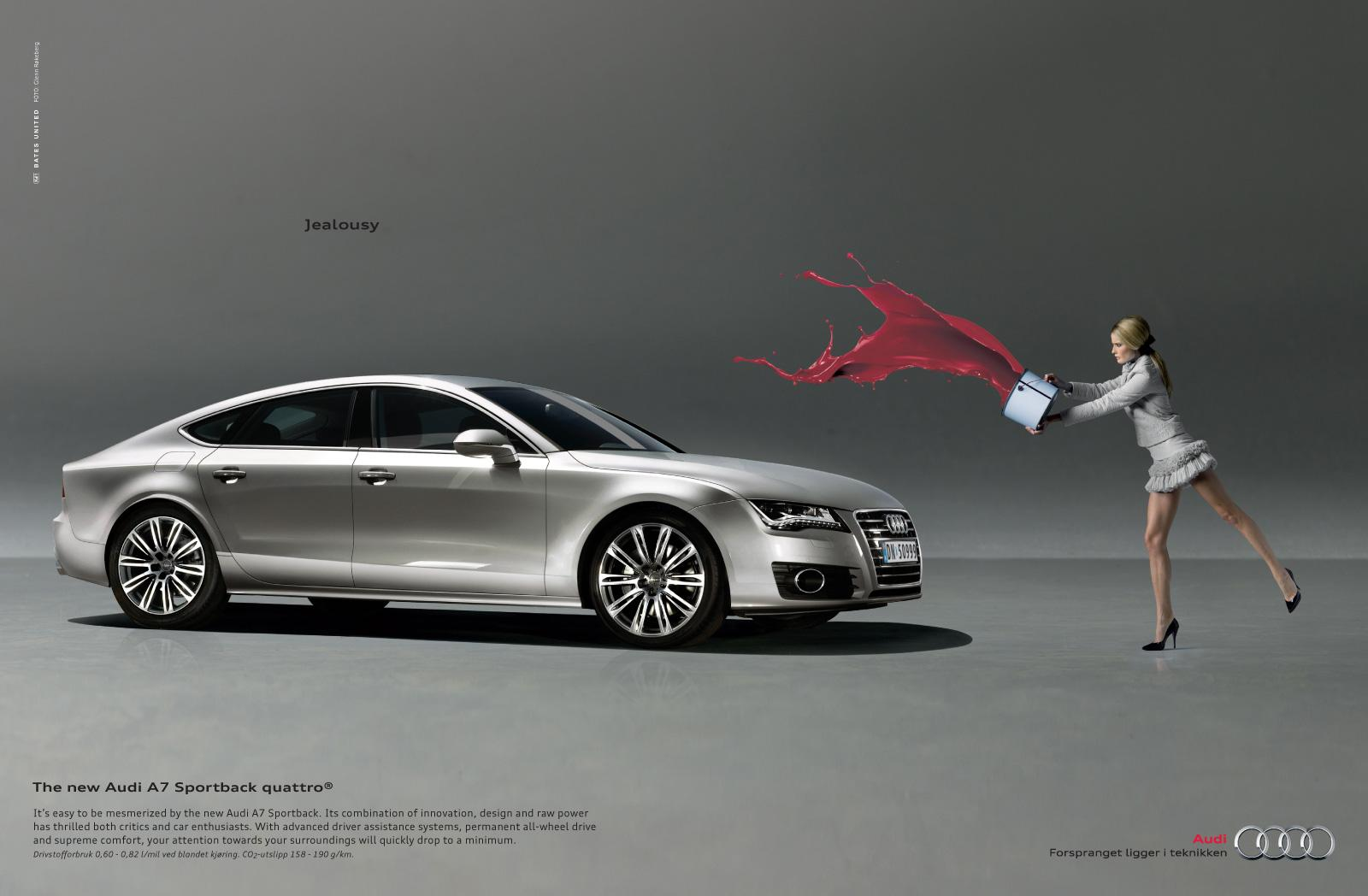 Años 2010- Audi A7 mujer celosa