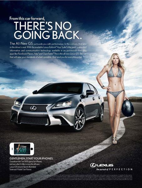 Años 2010- Lexus con mujer en biquini