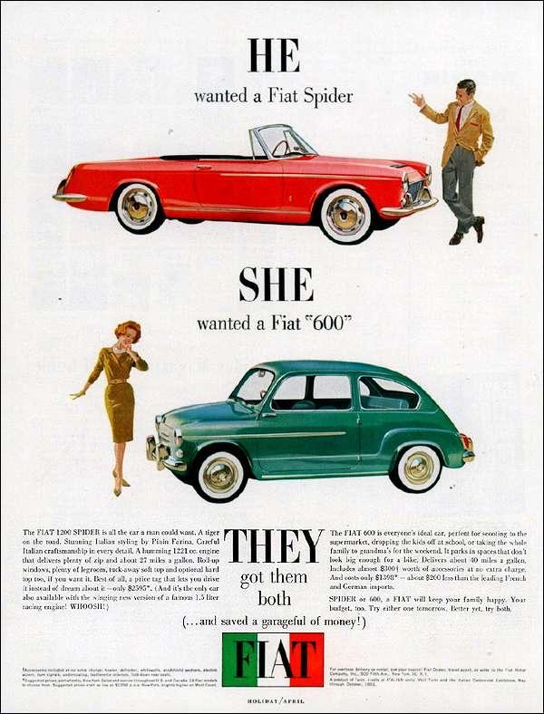 Años 50. FIAT Él quiere ella quiere