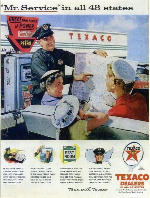 Años 60 Texaco Explicar mapa