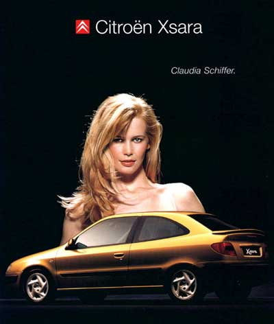 Años 90 Claudia Schiffer Citroen Xsara