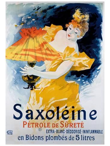 Jules Cheret - Cartel publicitario de Saxoleine, petróleo para lámparas (c.1892)